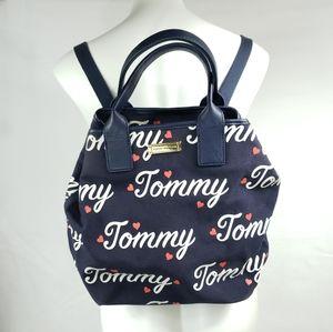 TOMMY HILFIGER Logo Heart Navy Backpack Purse